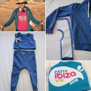 リメイクベビー服  Tシャツとパーカーからベストとモンキーパンツ
